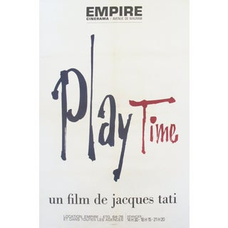 1967 French Vintage Jacques Tati Movie Poster, Playtime