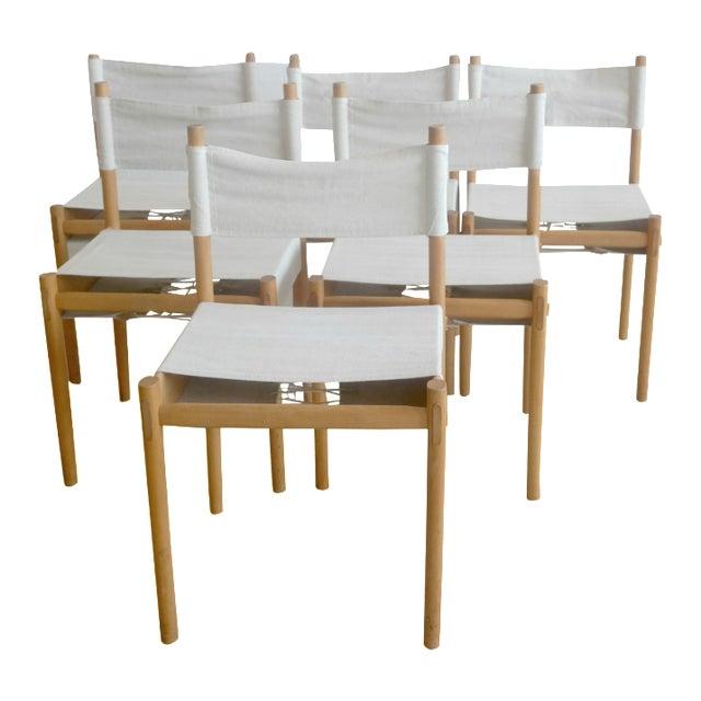 Danish Modern White Dining Chairs - Set of 6 - Image 1 of 10