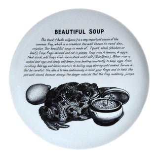 Piero Fornasetti Recipe Plate- Beautiful Soup Made for Fleming Joffe