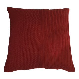 Extra Large Red Cable Pillows - A Pair