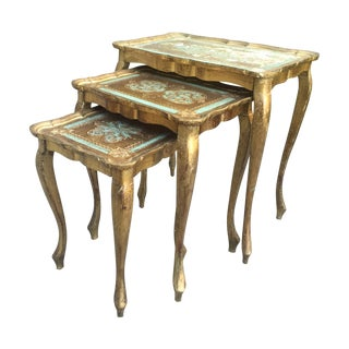 Vintage Florentine Nesting Tables - Set of 3
