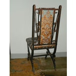 Image of Scrolled Iron Chair With Embossed Velvet