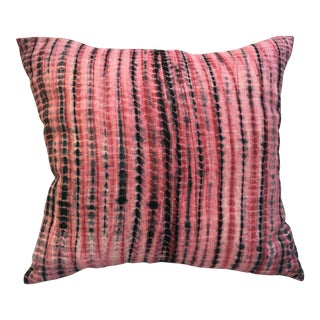 Pink Hand Dyed Linen Pillow