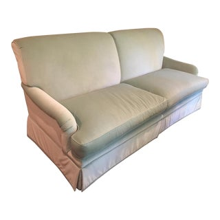 Dusty Aqua Velvet Sofa