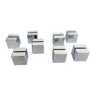 Chrome Cube Place Card Holders - Set of 8