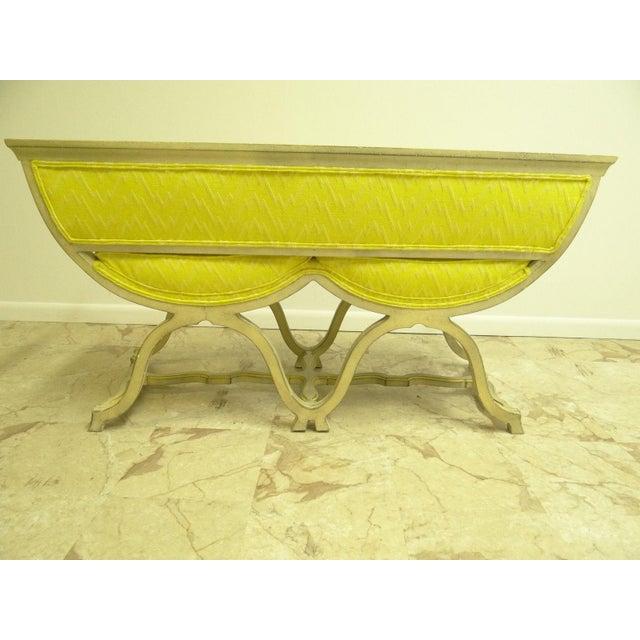 Vintage French Regency X Base Louis XV Settee Love Seat Recamier - Image 3 of 11