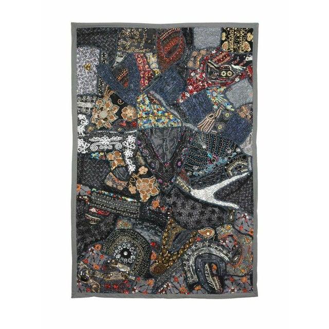 Multi-Purpose Dark Blue Hand-Worked Panel - Image 1 of 2