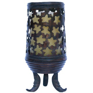 Bronze Candle Holder with Candle