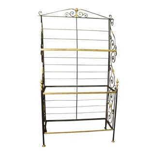Brass Detailed Iron Rack
