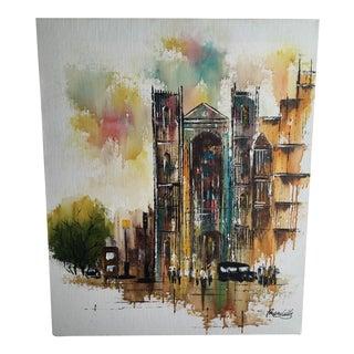 Adriano Marchello Mid-Century London Scene Painting