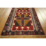 """Image of Persian Baluch Red & Blue Rug - 2'7"""" x 9'10"""""""