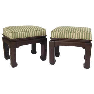 Vintage Ming Donghia Textile Benches - A Pair