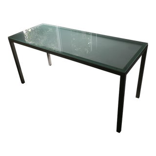 Glass-Top Parsons Table from Room and Board
