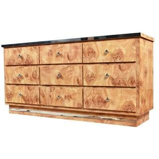Vintage Glam Laminated Burl Dresser