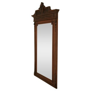 c.1880 French Walnut Henri II Mirror