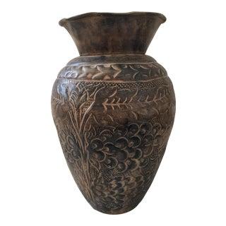 Boho Chic Brass Vase