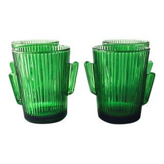 Vintage Libbey Glass Cactus Tumblers- Set of 4