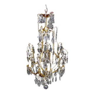 Six Arm Crystal Chandelier