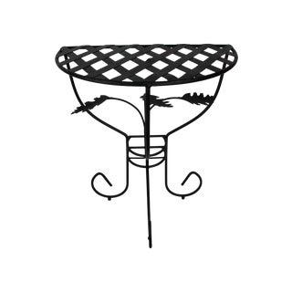 Outdoor Metal Half-Dome Side Tables - A Pair