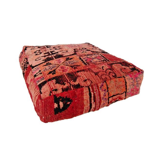 Pink Moroccan Rug Floor Pillow - Image 1 of 2