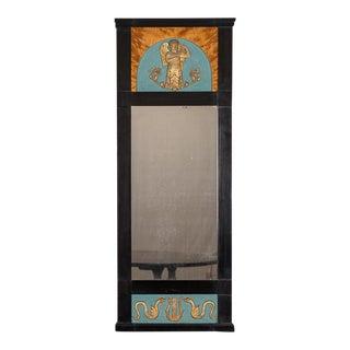 Biedermeier period tall slender mirror from Austria circa 1820 (19″w x 50″h)