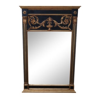 LaBarge Black & Gold Gilt Frame Regency Mirror