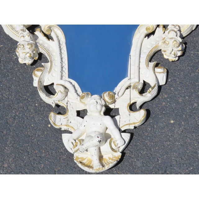 Cream & Gilt Carved Italian Mirror - Image 2 of 8