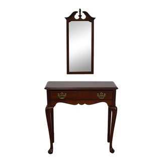 Penn House Cherry Traditional Console & Mirror Set