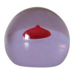 Antonio Da Ros for Cenedese Alexandrite Sommerso Glass Paperweight