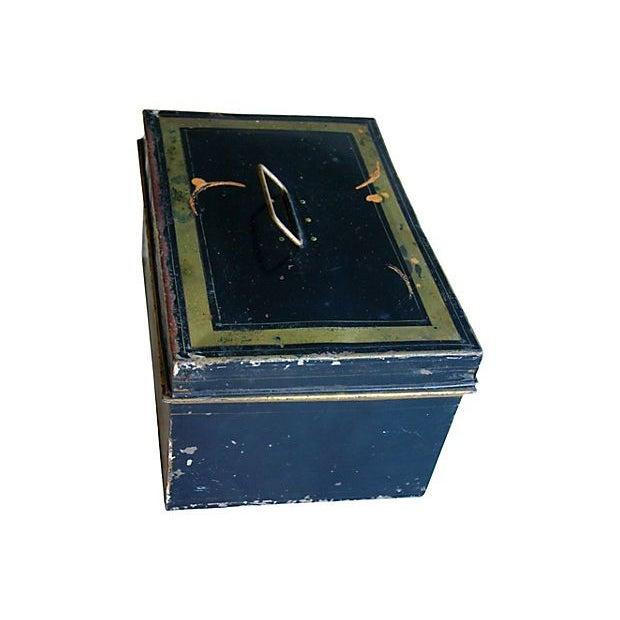 Antique Tin Document Box - Image 3 of 6