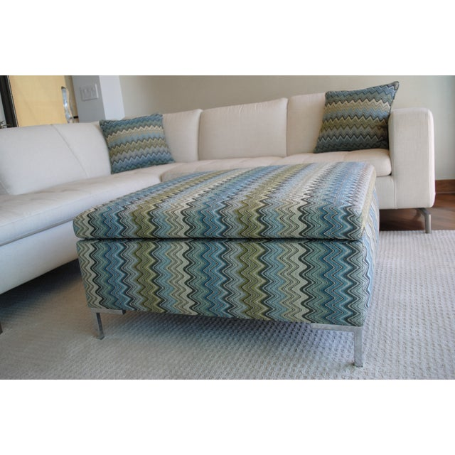 Missoni Fabric Covered Bergere Chair: Custom Missoni Fabric Covered Ottoman
