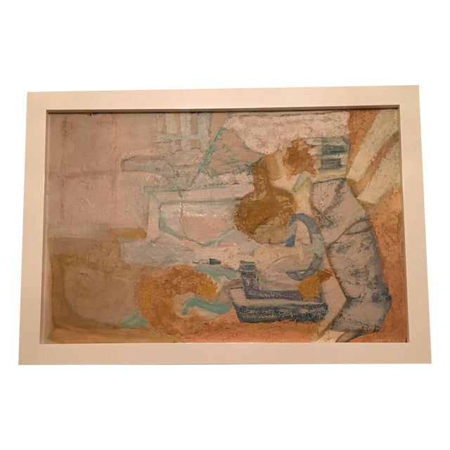 Abstract Framed Painting - Image 1 of 7