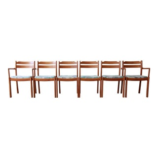 Danish Modern Teak Dining Chairs by Dyrlund, Set of 6