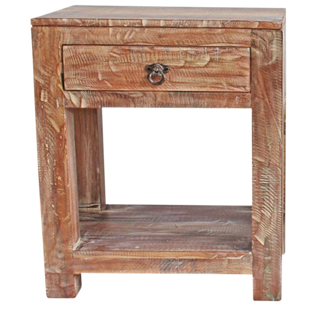 Image of Reclaimed Wood Side Table / Night Stand