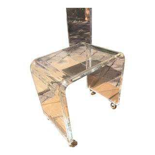 Lucite Waterfall Vanity Stool Bench Seat