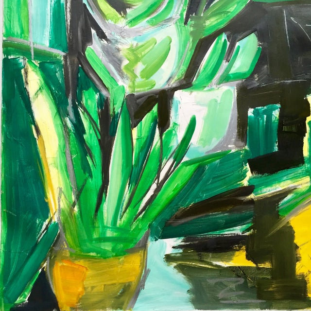 "48""x60"" Abstract ""Village Florist"" by Trixie Pitts - Image 5 of 5"