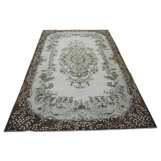 Hand Woven Overdyed Vintage Rug - 6′8″ × 10′4″