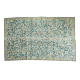 "Vintage Distressed Tabriz Carpet - 5'11"" x 9'7"""