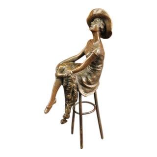 Fashion Model Bronze Sculpture