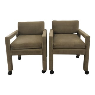 Milo Baughman Arm Chairs - A Pair