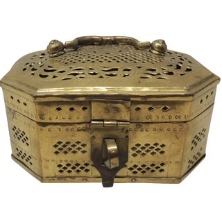 Vintage Indian Brass Box