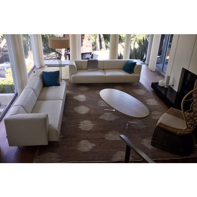 Maurice Villency Ivory Leather Sofa - Image 5 of 5