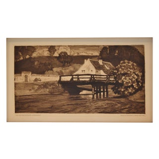 1910 Oskar Graf Original Etching/Aquatint