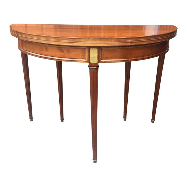 French Louis XVI Style Demi-Lune Table - Image 1 of 7
