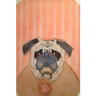 """Pug Wisdom"" Original Watercolor Painting"