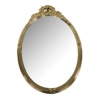 Mid-Century Gold Laurel Leaf Mirror