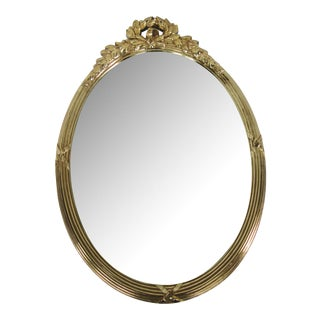 Mid-Century Gold Laurel Leaf Mirror