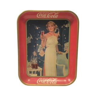 Original 1937 Madge Evans Coca Cola Tray