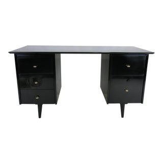 Black Lacquer Desk by Paul McCobb