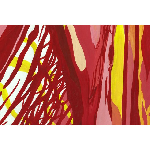 Red & Yellow Abstract Painting - Image 3 of 3